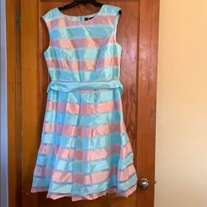 Pink & blue Easter dress